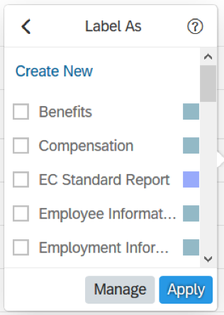 SuccessFactors / Reporting Center