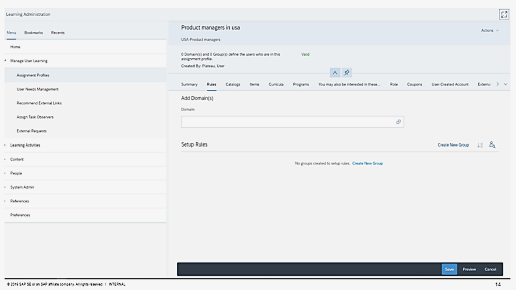 Figure 3- LMS HTML5 redesigned screen (Assignment Profile Management)